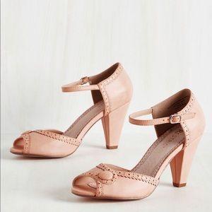 ModCloth Pink Peep Toe Shoes